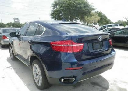 Export Salvage 2012 Bmw X6 Xdrive50i Blue On Beige