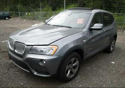 export salvage 2011 bmw x3 xdrive28i gray on red. Black Bedroom Furniture Sets. Home Design Ideas