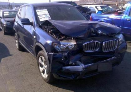 2011 BMW X3 XDRIVE28I - BLUE ON BLACK