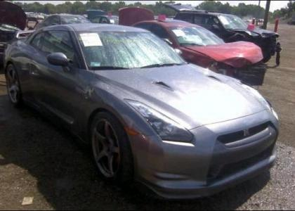 2009 NISSAN GT-R BASE - GRAY ON BLACK