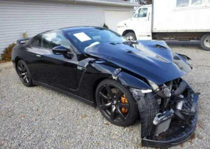 Export Salvage 2010 Nissan Gt R Premium Black On Black
