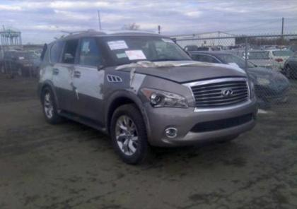 2013 INFINITI QX56 BASE - GRAY ON BLACK 1