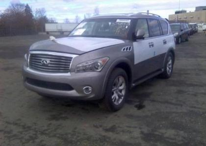 2013 INFINITI QX56 BASE - GRAY ON BLACK 2