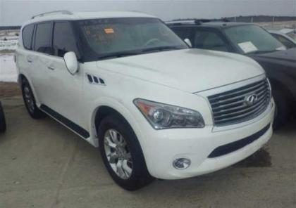 2012 INFINITI QX56 AWD - WHITE ON BEIGE 1