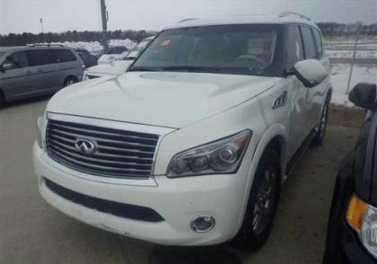 2012 INFINITI QX56 AWD - WHITE ON BEIGE 2