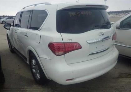 2012 INFINITI QX56 AWD - WHITE ON BEIGE 3