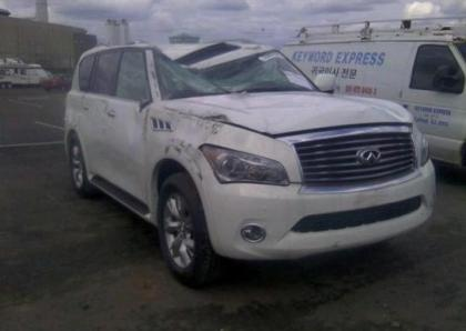 2013 INFINITI QX56 BASE - WHITE ON BLACK 1