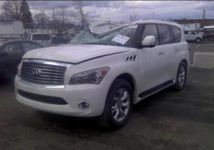 2013 INFINITI QX56 BASE - WHITE ON BLACK 2