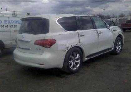 2013 INFINITI QX56 BASE - WHITE ON BLACK 4
