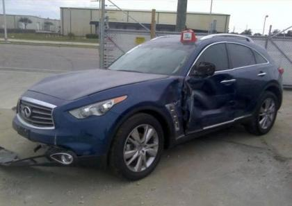 2014 INFINITI QX70 BASE - BLUE ON BLACK 2