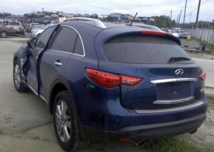 2014 INFINITI QX70 BASE - BLUE ON BLACK 3