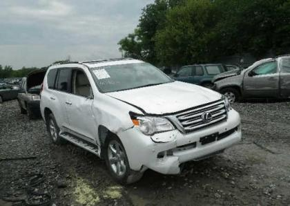 2011 LEXUS GX460 BASE - WHITE ON BEIGE