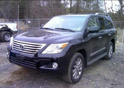 2011 LEXUS LX570 BASE - BLACK ON BEIGE 2