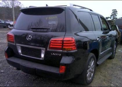 2011 LEXUS LX570 BASE - BLACK ON BEIGE 4