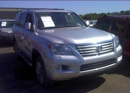2011 LEXUS LX570 BASE - SILVER ON BLACK 1