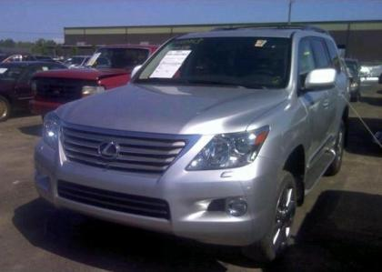 2011 LEXUS LX570 BASE - SILVER ON BLACK 2