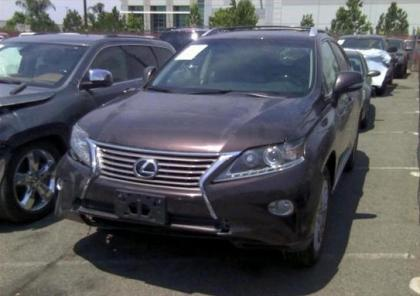 2013 LEXUS RX350 BASE - BROWN ON BLACK 2