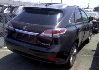 2013 LEXUS RX350 BASE - BROWN ON BLACK 4