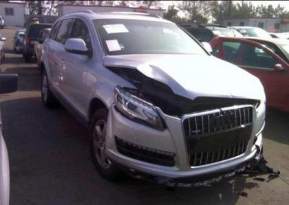 2013 AUDI Q7 PREMIUM PLUS - SILVER ON BLACK 1