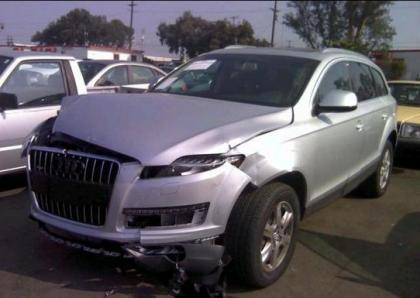2013 AUDI Q7 PREMIUM PLUS - SILVER ON BLACK 2