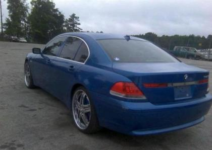 2002 BMW 745 I - BLUE ON BLACK 3