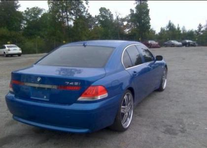 2002 BMW 745 I - BLUE ON BLACK 4