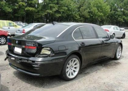 Export Salvage BMW LI BLACK ON BEIGE - 745 bmw li