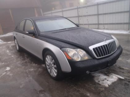 2009 MAYBACH 57S BASE - SILVER ON BLACK 1