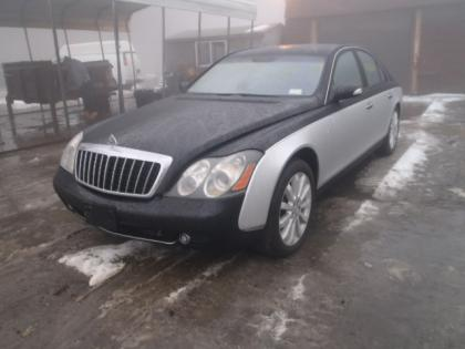 2009 MAYBACH 57S BASE - SILVER ON BLACK 2