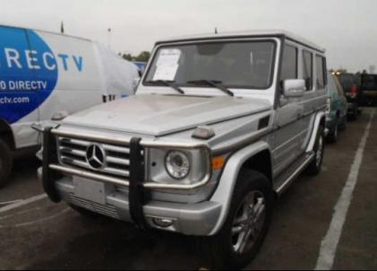2012 MERCEDES BENZ G550 4MATIC - SILVER ON BLACK 2