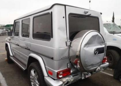 2012 MERCEDES BENZ G550 4MATIC - SILVER ON BLACK 3
