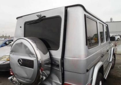 2012 MERCEDES BENZ G550 4MATIC - SILVER ON BLACK 6