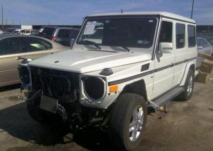 2011 MERCEDES BENZ G550 4MATIC - WHITE ON BROWN 2
