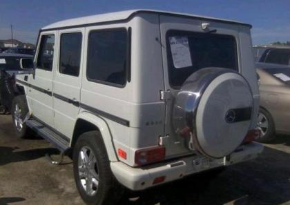 2011 MERCEDES BENZ G550 4MATIC - WHITE ON BROWN 3
