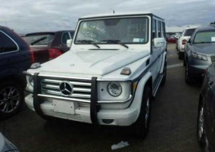 2011 MERCEDES BENZ G550 BASE - WHITE ON BLACK 2