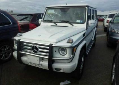 2011 MERCEDES BENZ G550 BASE - WHITE ON BLACK 6