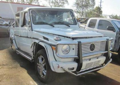 2012 MERCEDES BENZ G550 4MATIC - WHITE ON BLACK 1