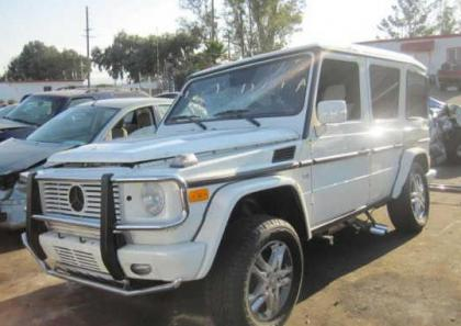 2012 MERCEDES BENZ G550 4MATIC - WHITE ON BLACK 2