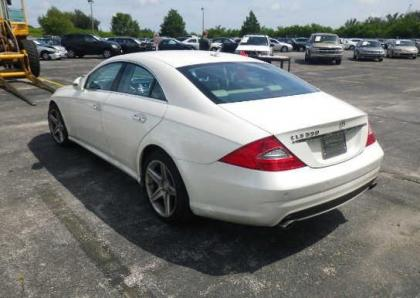 export salvage 2010 mercedes benz cls550 base white on beige. Black Bedroom Furniture Sets. Home Design Ideas