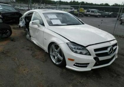 2012 MERCEDES BENZ CLS550 BASE - WHITE ON BLACK