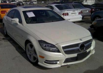 2012 MERCEDES BENZ CLS550 4MATIC - WHITE ON BLACK 1