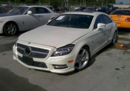 2012 MERCEDES BENZ CLS550 4MATIC - WHITE ON BLACK 2