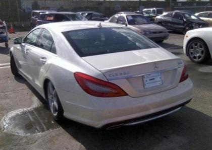 2012 MERCEDES BENZ CLS550 4MATIC - WHITE ON BLACK 3