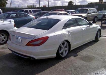 2012 MERCEDES BENZ CLS550 4MATIC - WHITE ON BLACK 4