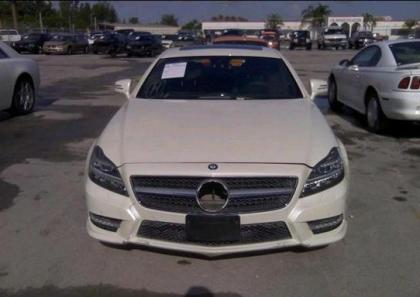2012 MERCEDES BENZ CLS550 4MATIC - WHITE ON BLACK 6