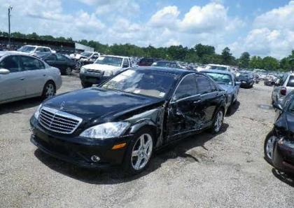 2008 MERCEDES BENZ S550 BASE - BLACK ON BEIGE 2