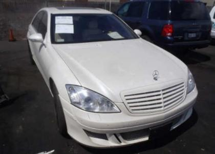 2007 MERCEDES BENZ S550 LORINSER - WHITE ON CREAM