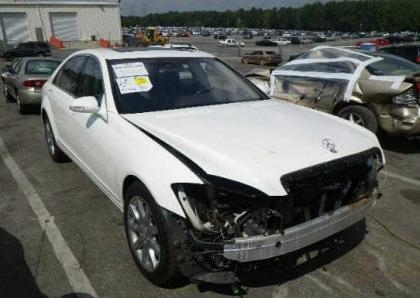 2007 MERCEDES BENZ S550 BASE - WHITE ON GRAY
