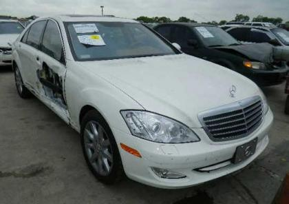 2007 MERCEDES BENZ S550 RWD - WHITE ON BEIGE