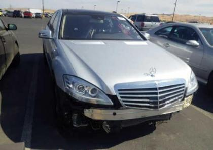 2013 MERCEDES BENZ S550 BASE - SILVER ON BLACK